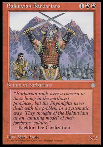 Eiszeit - Balduvianische Barbaren