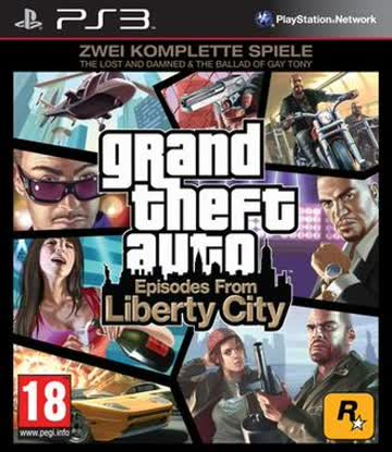 """Grand Theft Auto: Episodes from Liberty City - Zwei komplette Spiele: """"The Lost and Damned"""" + """"The Ballad of Gay Tony"""" [PEGI]"""