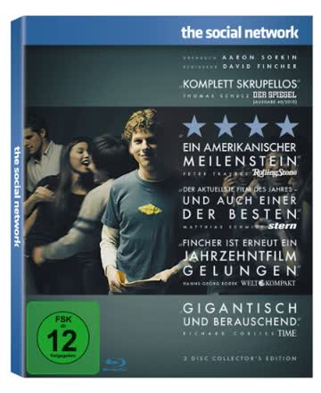 The Social Network (2-Disc Collector's Edition im limited Digipack) [Blu-ray]