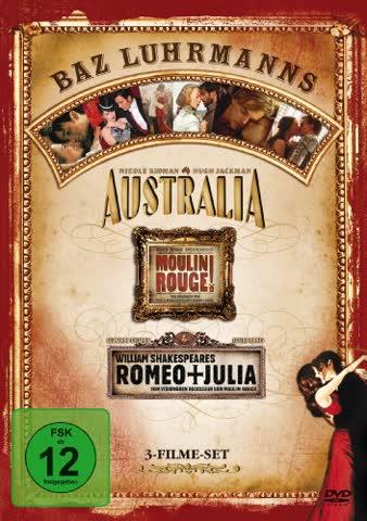 Australia / Moulin Rouge / William Shakespeare's Romeo + Julia [3 DVDs]