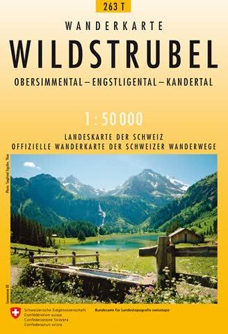 263T Wildstrubel Wanderkarte: Obersimmental - Entschligetal - Kandertal