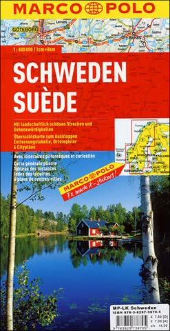 MARCO POLO Länderkarte Schweden 1:800.000 (MARCO POLO Länderkarten)