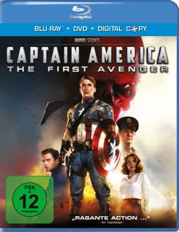 Captain America - The First Avenger, 1 Blu-ray + DVD + Digital Copy