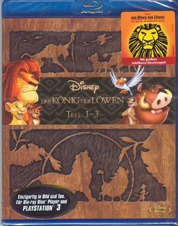 Der König der Löwen Teil 1-3 [Blu-ray]