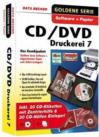 CD/DVD Druckerei 7 mit Papier