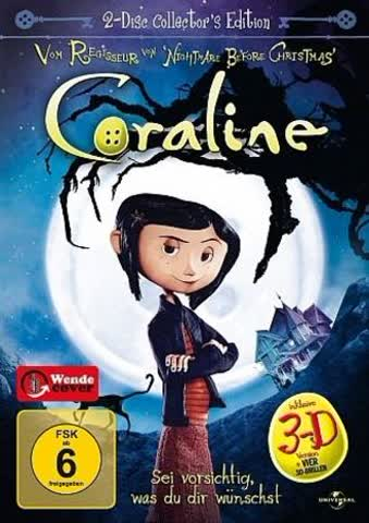 Coraline (3D-Version, Collector's Edition, 2 DVDs)