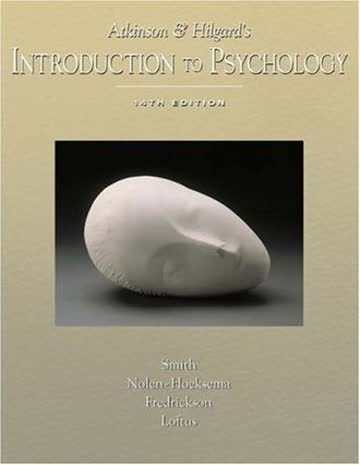 Atkinson and Hilgard's Introduction to Psychology