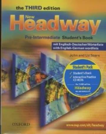 New Headway English Course Pre-Intermediate. German Edition: Student's Book mit zweisprachiger Vokabelliste mit CD-ROM