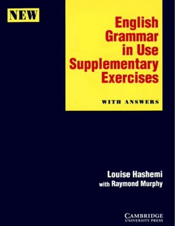English Grammar In Use Supplementary Exercise With Answers