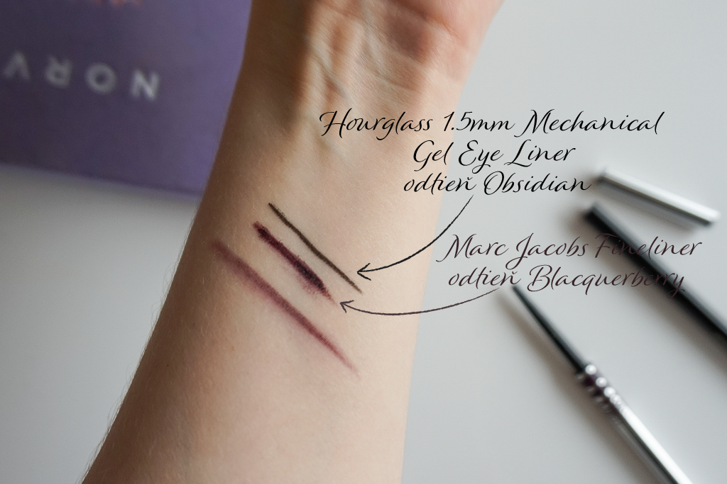 Marc Jacobs Fineliner  Blacquerberry  swatches review recenzia