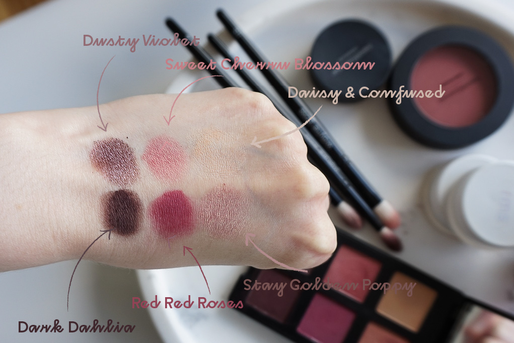 bareMinerals Floral Utopia Bouquet Eyeshadow palette paletka ocnych tienov swatches recenzia review