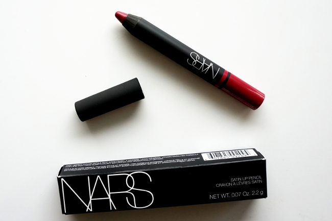 NARS Satin Lip Pencil Hyde Park swatch swatches review recenzia