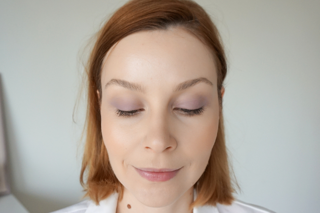 bareMinerlas 5-in-1 BB Advanced Performance Cream Eyeshadow swatches review recenzia blushing pink exotic lilac