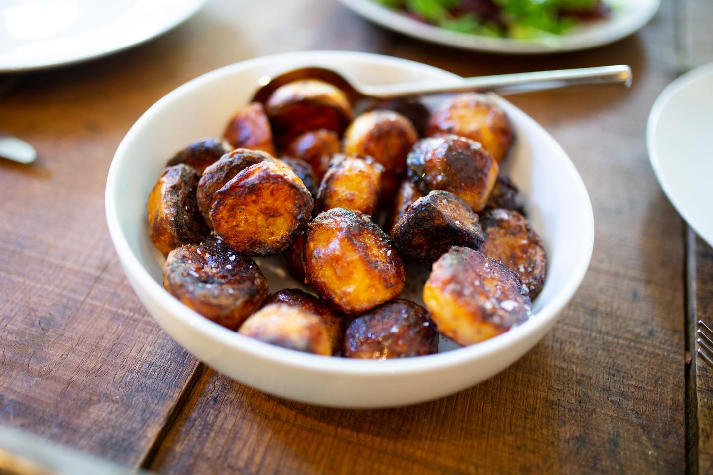 A bowl of roast potatoes