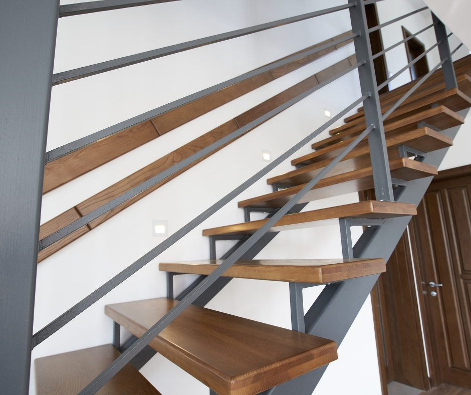 A staircase in a family home