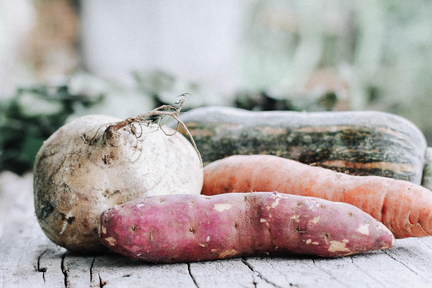 Sweet potato and other root vegetables