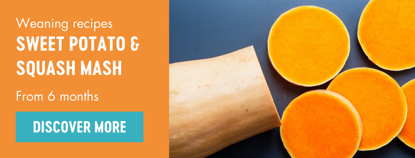 Sweet potato and squash mash weaning recipe