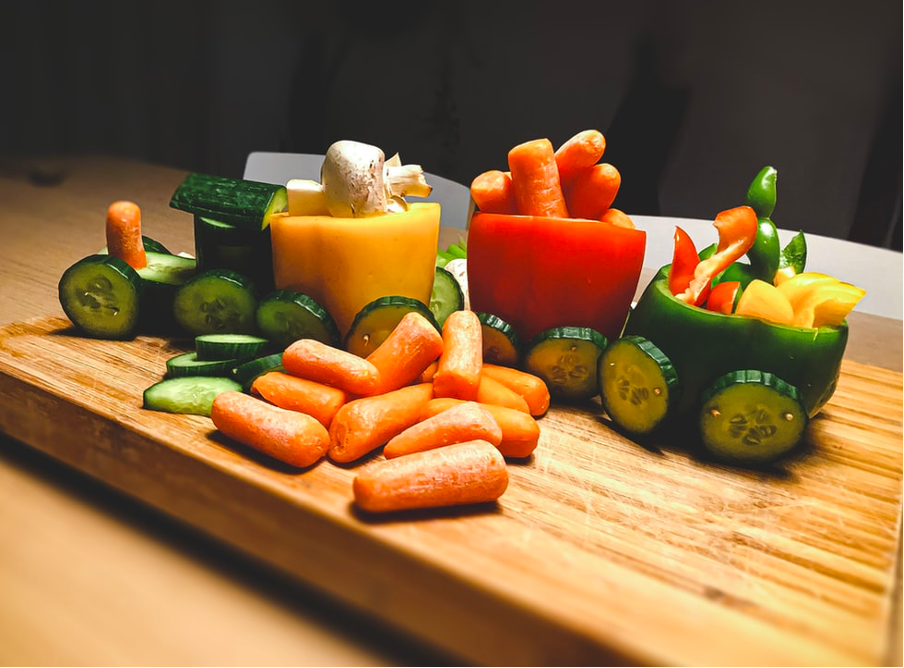 Weaning finger foods served as a toy train