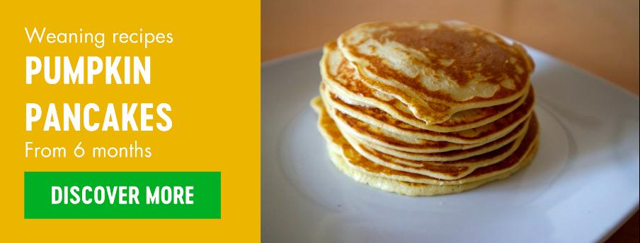Pumpkin pancakes weaning recipe by Babease