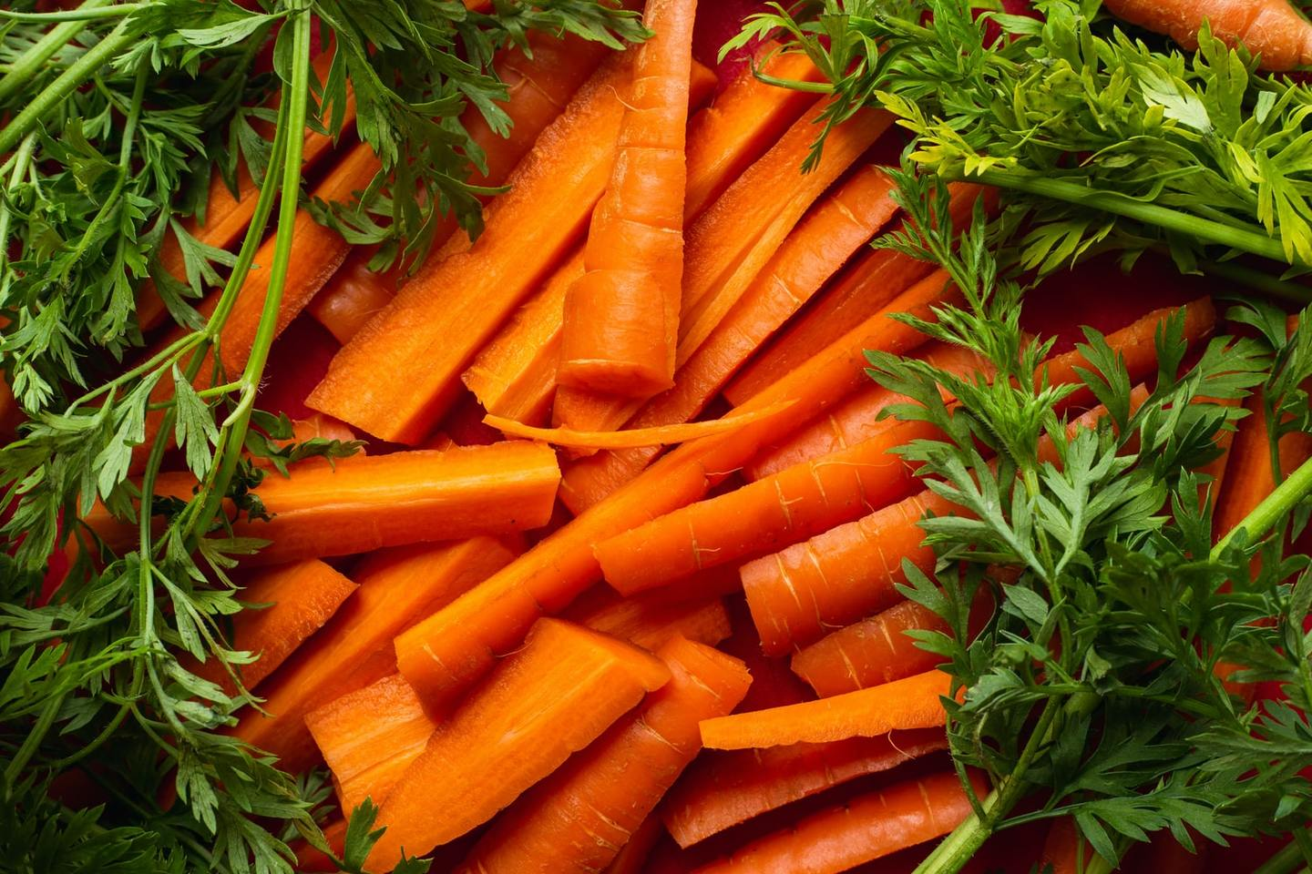 Cut and cooked carrots