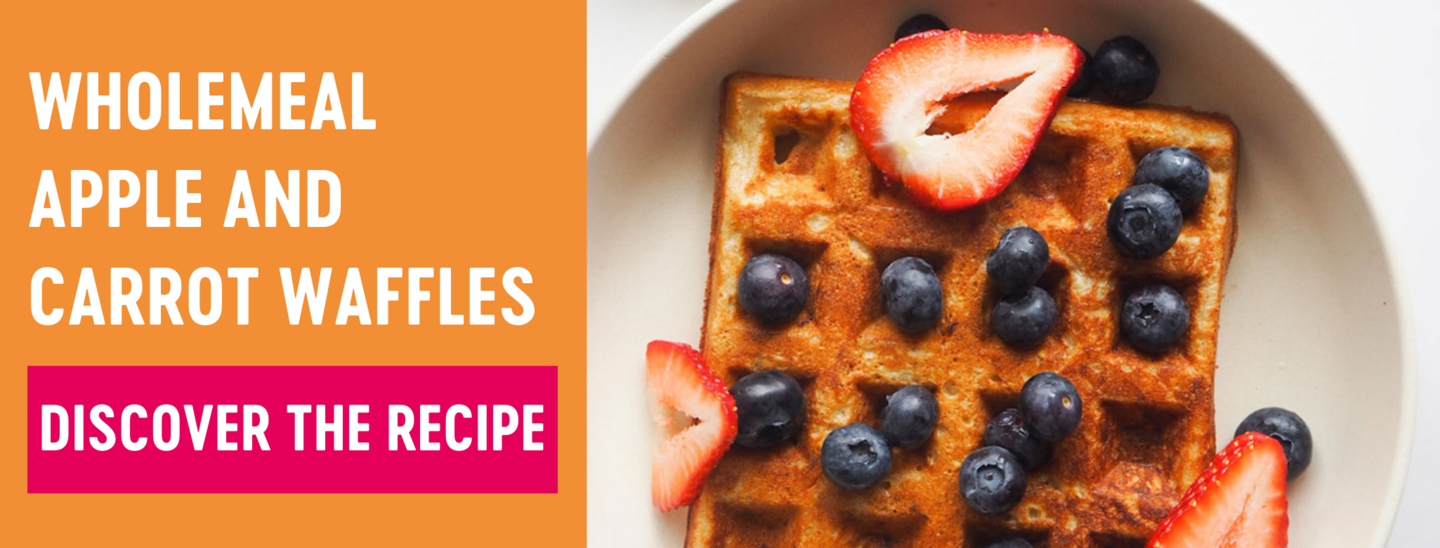 Wholemeal apple and carrot waffles recipe