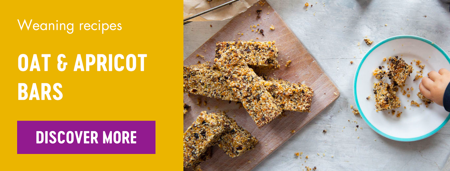 Oat and apricot bars weaning recipe
