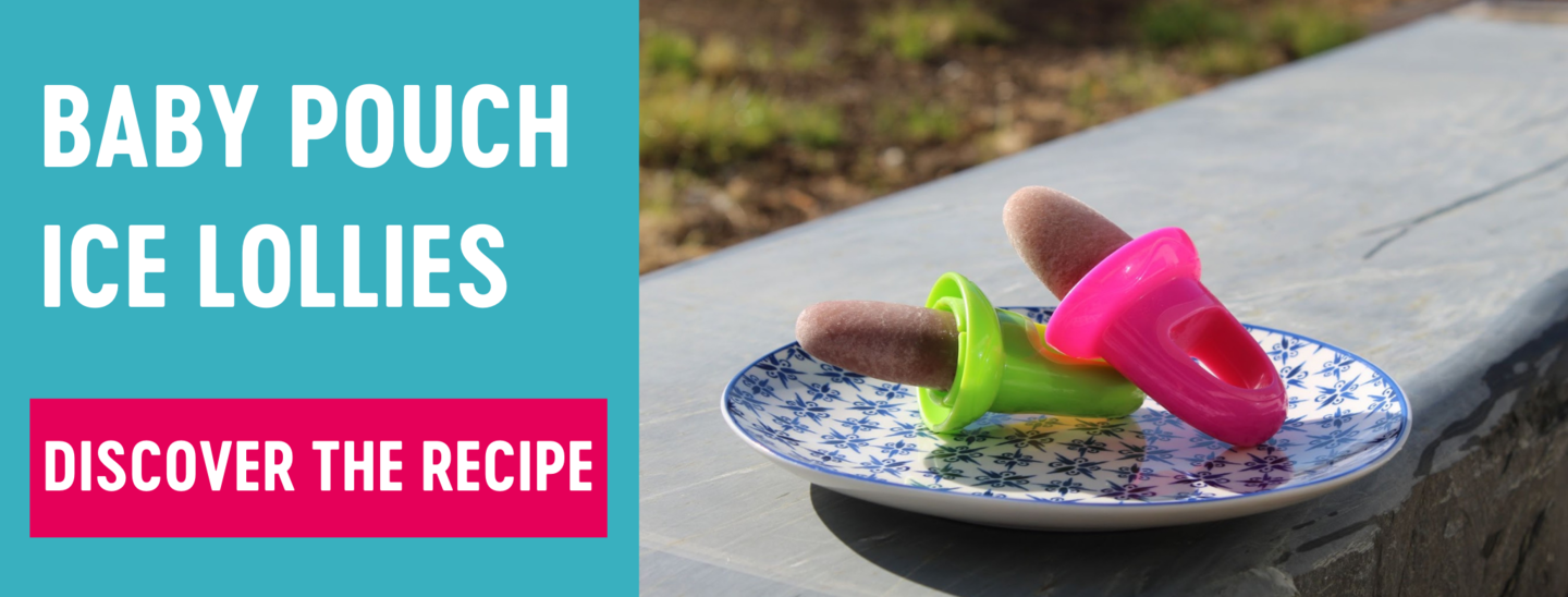 Babease baby pouch ice lollies recipe banner