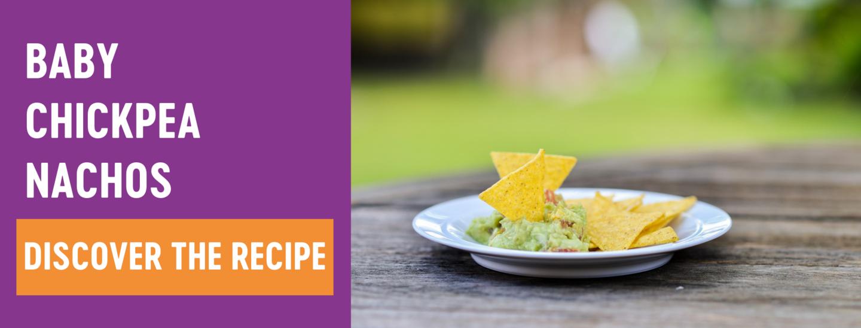 Baby chickpea nachos Babease recipe