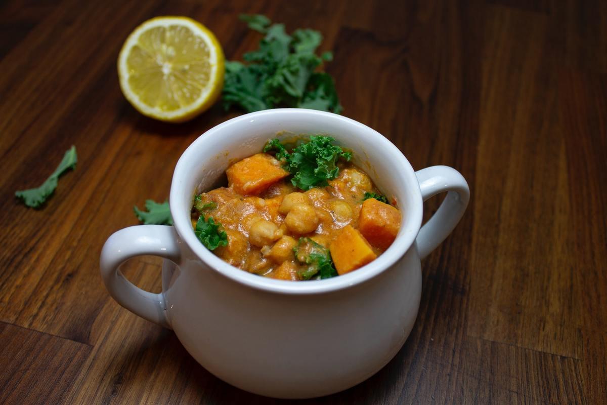 Katsu curry on a plate