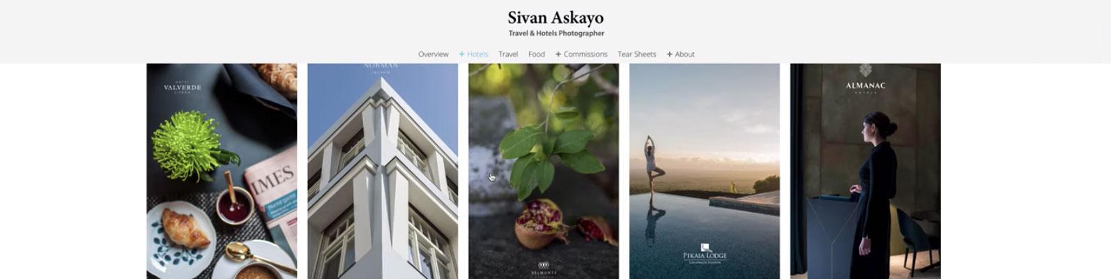 A look at Sivan Askayo's portfolio website