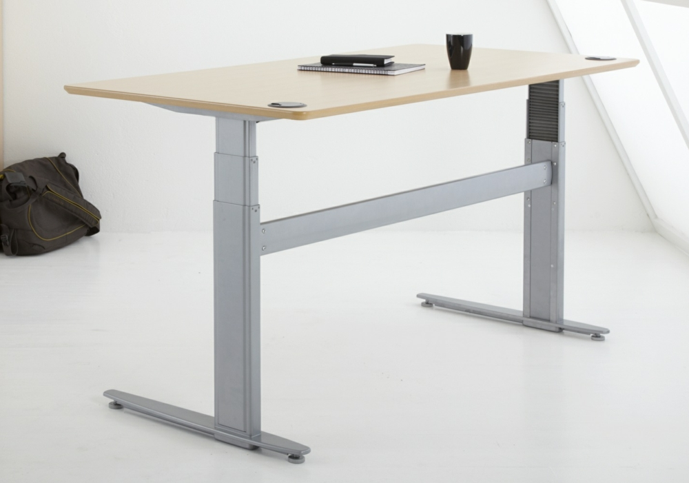 Sit Stand Desk >> Conset 501 29 Sit Stand Electric Desk Rectangular