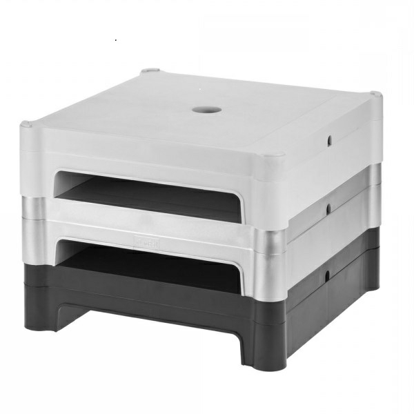 mount drawers it monitor with mi printer riser shelf drawer stand single
