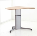 Conset 501-7 Sit Stand Electric Desk - Curvy Corner