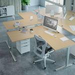 Conset 501-43 Standing Desk - Wave