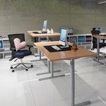 Conset 501-49 Sit Stand Electric Desk - Rectangular