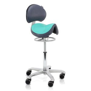 Score Amazone Balance With Back Support Saddle Stool