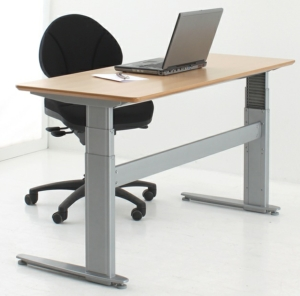 Conset 501-27 Sit Stand Electric Desk - Rectangular