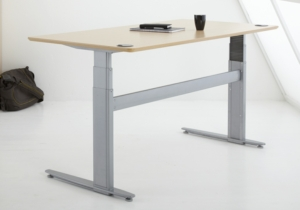 Conset 501-29 Sit Stand Electric Desk - Wave