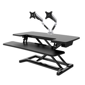 Freelift  Electric Sit Stand Workstation And Monitor Arm Bundle