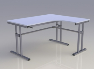 Mod-C Height Adjustable Desk - Radial
