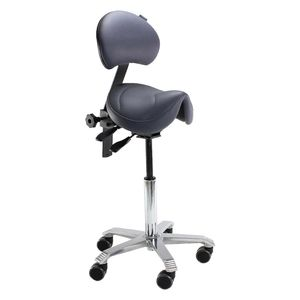Score Amazone With Back Support Saddle Stool