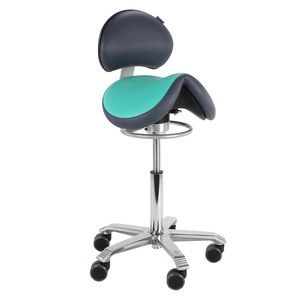 Score Jumper Balance With Back Support Saddle Stool