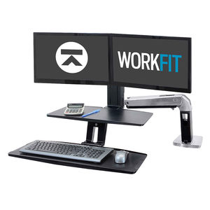 Ergotron WorkFit-A Dual LD with Worksurface+