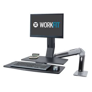 Ergotron WorkFit-A Single LD Standing Workstation With Worksurface