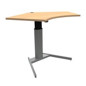 Conset 501-19 Sit Stand Electric Desk - Corner