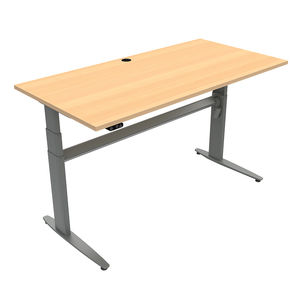 Conset 501-25 Sit Stand Electric Desk - Rectangular