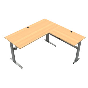 Conset 501-25 Sit Stand Electric Desk - Corner Desk