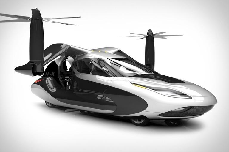 Новый летающий автомобиль Terrafugia TF-X - или просто летающая коляска.