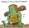Small emmanuel macron caricature troll rayclid