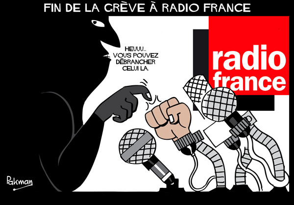 Content fin greve radio france